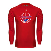 Under Armour Red Long Sleeve Tech Tee-Mustang in Basketball