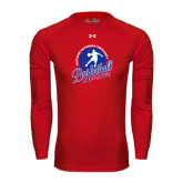 Under Armour Red Long Sleeve Tech Tee-Player on Basketball Design
