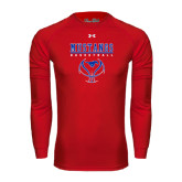 Under Armour Red Long Sleeve Tech Tee-Stacked Basketball Design