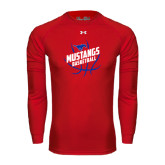 Under Armour Red Long Sleeve Tech Tee-Angled Mustangs in Basketball