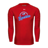 Under Armour Red Long Sleeve Tech Tee-Script Equestrian