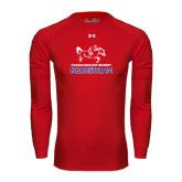 Under Armour Red Long Sleeve Tech Tee-Equestrian Design