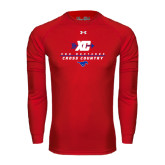 Under Armour Red Long Sleeve Tech Tee-Stacked Cross Country Design