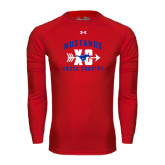 Under Armour Red Long Sleeve Tech Tee-Cross Country Design