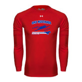Under Armour Red Long Sleeve Tech Tee-Rowing Design