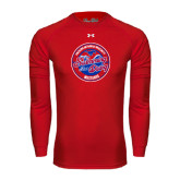 Under Armour Red Long Sleeve Tech Tee-Swim and Dive Design