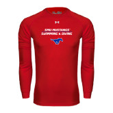 Under Armour Red Long Sleeve Tech Tee-Stacked Swim and Dive Design