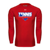Under Armour Red Long Sleeve Tech Tee-Tennis Design