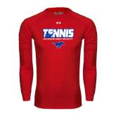 Under Armour Red Long Sleeve Tech Tee-Tennis Design
