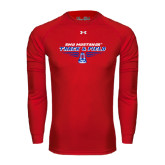 Under Armour Red Long Sleeve Tech Tee-Track and Field Design