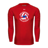 Under Armour Red Long Sleeve Tech Tee-Mustang on Volleyball
