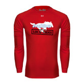 Under Armour Red Long Sleeve Tech Tee-#PonyUpTempo Lock Arms