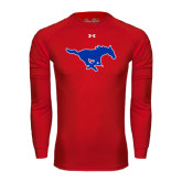 Under Armour Red Long Sleeve Tech Tee-Official Outlined Logo