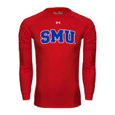 Under Armour Red Long Sleeve Tech Tee-Block SMU