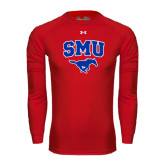 Under Armour Red Long Sleeve Tech Tee-SMU w/Mustang