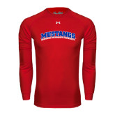 Under Armour Red Long Sleeve Tech Tee-Arched Mustangs