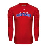 Under Armour Red Long Sleeve Tech Tee-Arched SMU Mustangs