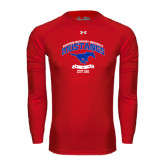 Under Armour Red Long Sleeve Tech Tee-Arched Mustangs w/ Banner