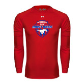 Under Armour Red Long Sleeve Tech Tee-Mustangs in Shield