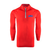 Under Armour Red Tech 1/4 Zip Performance Shirt-Block SMU