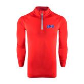 Under Armour Red Tech 1/4 Zip Performance Shirt-Block SMU