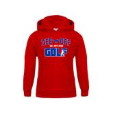 Youth Red Fleece Hoodie-Tee Off Design
