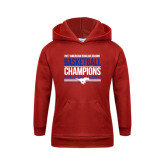 Youth Red Fleece Hoodie-2017 AAC Regular Season Mens Basketball Champions Stacked