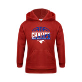 Youth Red Fleece Hoodie-2017 AAC Regular Season Champs - Mens Basketball Half Ball