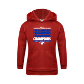 Youth Red Fleece Hoodie-2017 AAC Regular Season Champions Repeating - Mens Basketball
