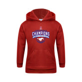 Youth Red Fleece Hoodie-2017 AAC Conference Champions - Mens Basketball Arched Banner