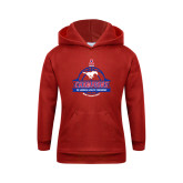 Youth Red Fleece Hoodie-2017 AAC Conference Champions - Mens Basketball Banners
