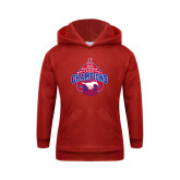 Youth Red Fleece Hoodie-2017 AAC Conference Champions - Mens Basketball Arched Net