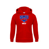 Youth Red Fleece Hoodie-Golf