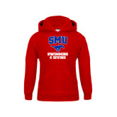Youth Red Fleece Hoodie-Swimming and Diving