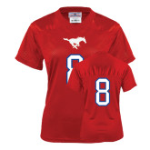 Ladies Red Replica Football Jersey-#8