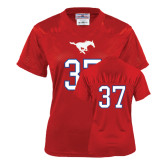 Ladies Red Replica Football Jersey-#37