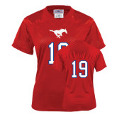 Ladies Red Replica Football Jersey-#19
