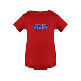 Red Infant Onesie-Block SMU