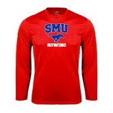 Syntrel Performance Red Longsleeve Shirt-Rowing