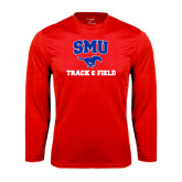 Performance Red Longsleeve Shirt-Track and Field