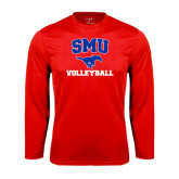 Performance Red Longsleeve Shirt-Volleyball