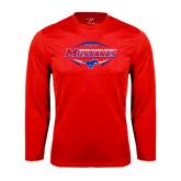 Performance Red Longsleeve Shirt-Mustangs in Football