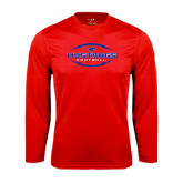 Performance Red Longsleeve Shirt-Athletic Mustangs in Football