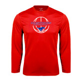 Performance Red Longsleeve Shirt-Mustang in Basketball