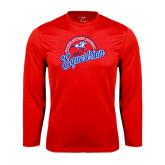 Performance Red Longsleeve Shirt-Script Equestrian