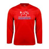 Performance Red Longsleeve Shirt-Equestrian Design