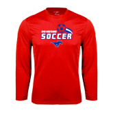 Syntrel Performance Red Longsleeve Shirt-Soccer Swoosh