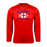 Performance Red Longsleeve Shirt-Cross Country Design