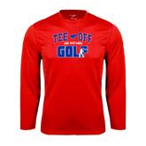 Performance Red Longsleeve Shirt-Tee Off Design