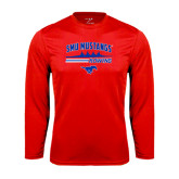 Performance Red Longsleeve Shirt-Rowing Profile Design